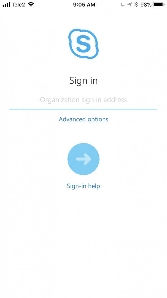 Login to Skype for Business on an iPhone (iOS) – Manual