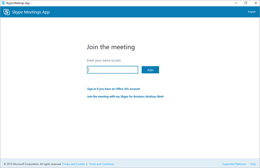 web skype for business