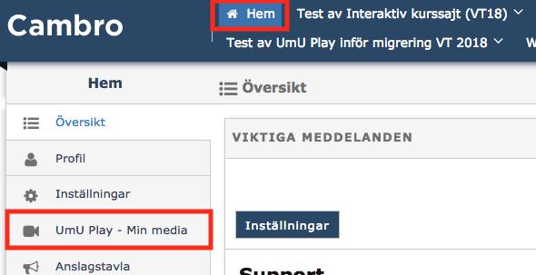 UmU Play - Min media