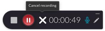 avbryt inspelningen