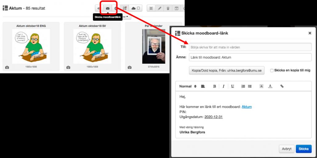 Backend-mejla länk