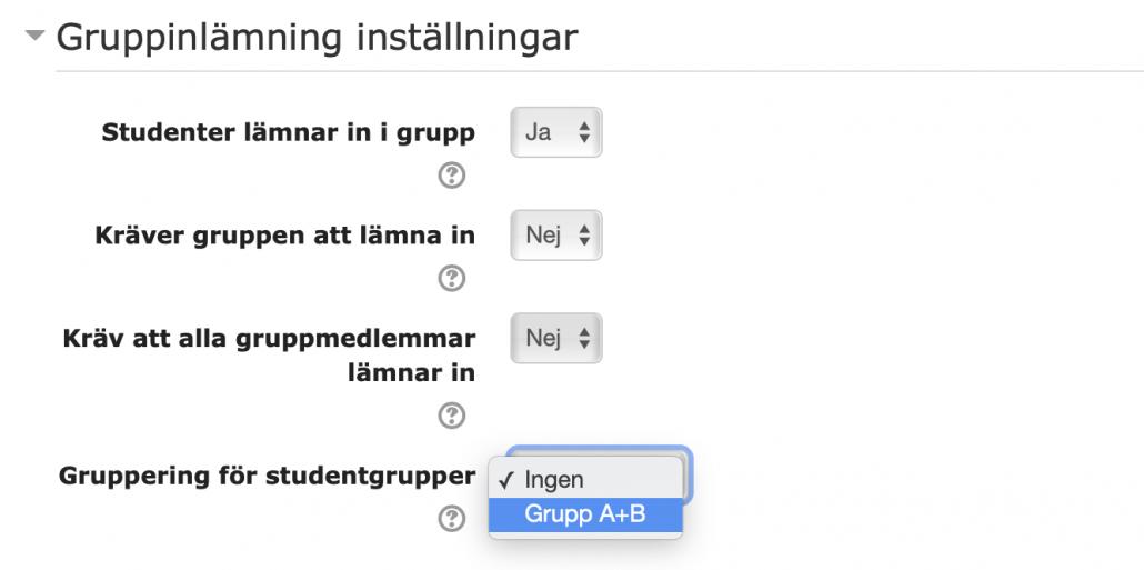grupperingar
