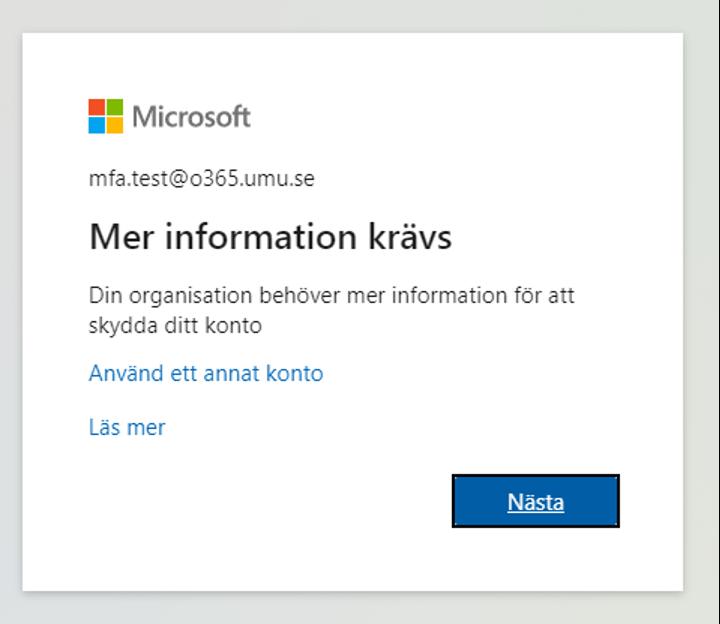 Aktivera MFA Microsoft