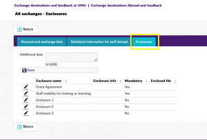 print screen Enclosures Staff exchange application