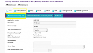 Print screen Personal and exchange data send application