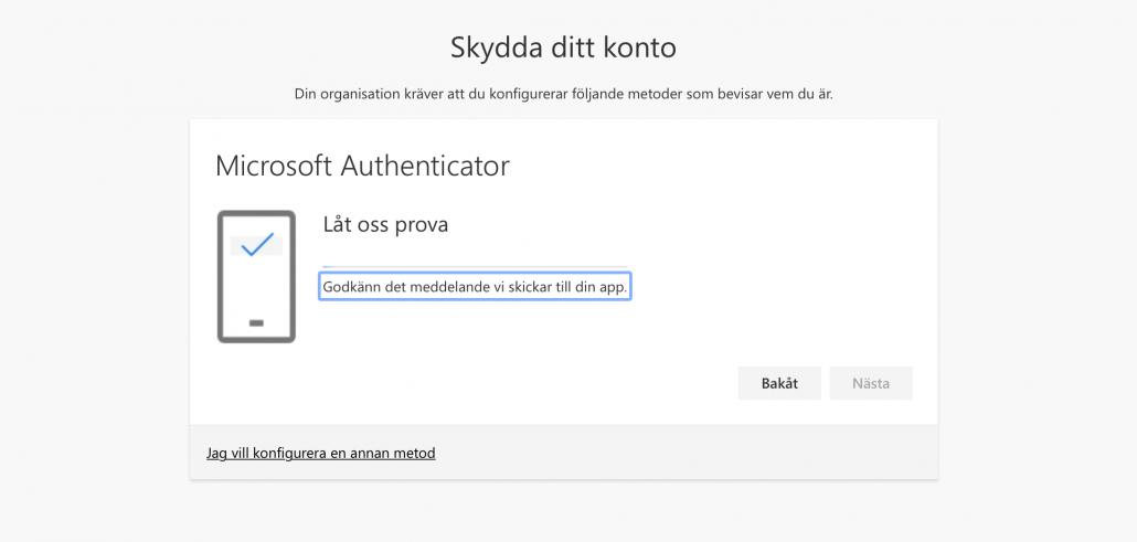 Prova Microsoft Authenticator
