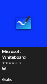 Icon showing how Whiteboard looks in the Microsoft store