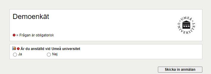 Visa enkät i Websurvey
