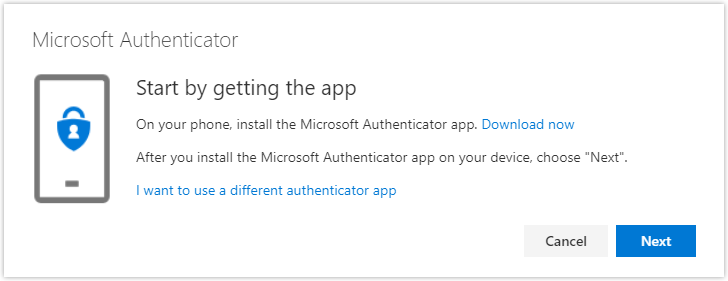 Install Authenticator on device