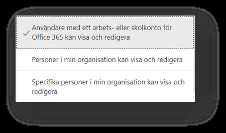 Dela formulär för att samarbeta - alternativ samarbeta