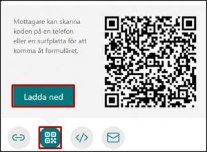 Dela formulär - via QR-kod