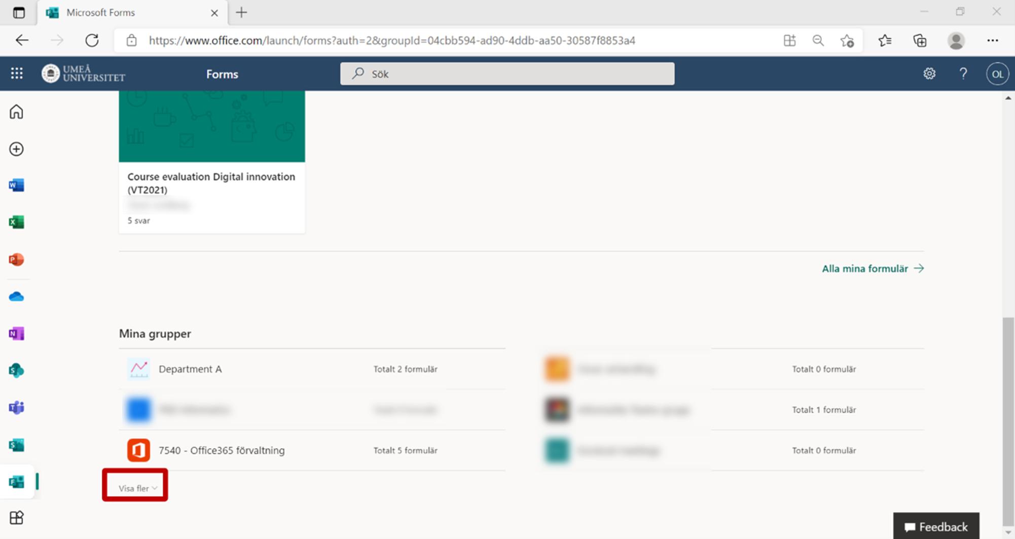 Skapa och hantera gruppformulär - sin privata formsportal