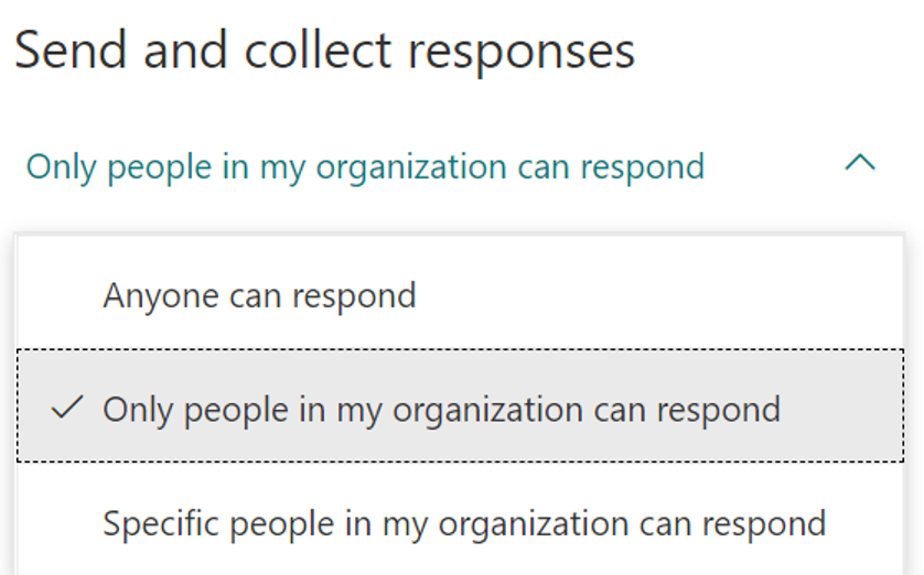 Share a form - send an collect responses