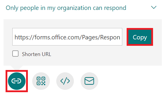 Share a form - share with link