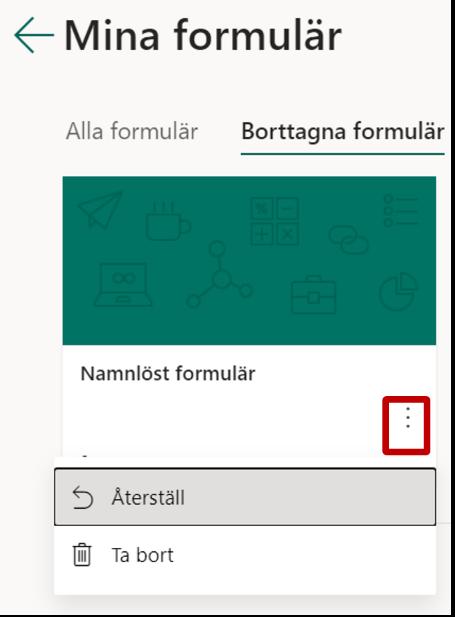 Ta bort formulär Forms