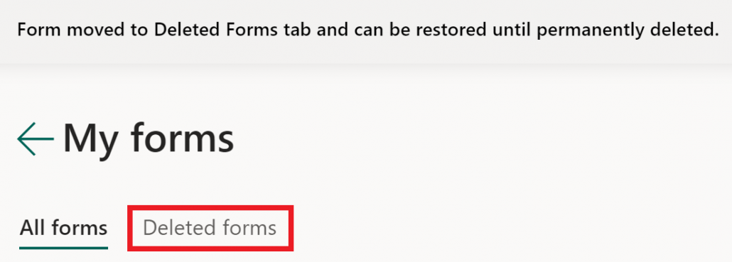delete forms permently