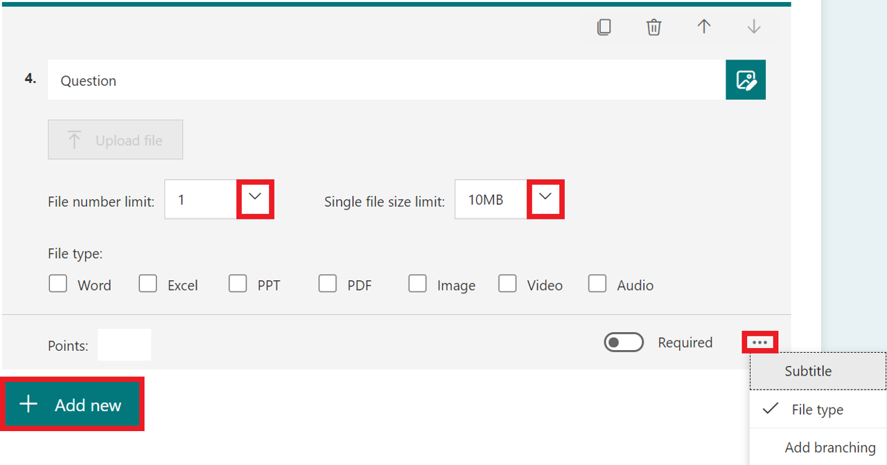 file upload question - quiz - full decription