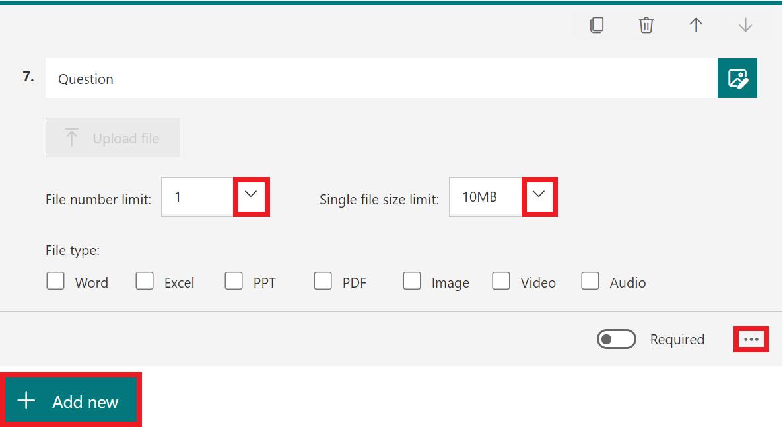 file upload qustion full decription