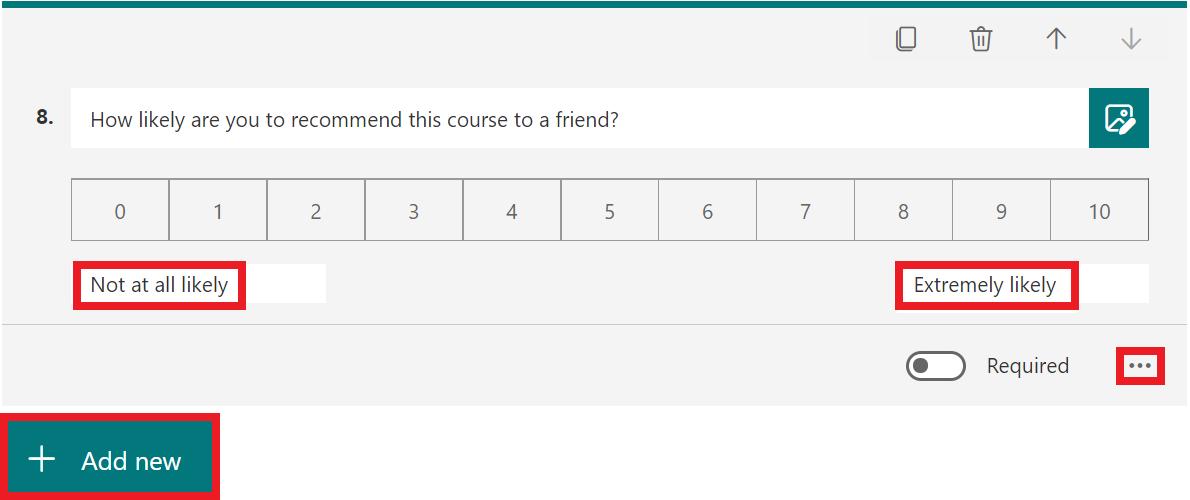 net promoter score question full decription